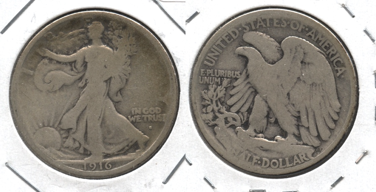 1916-S Walking Liberty Half Dollar Good-4 #a