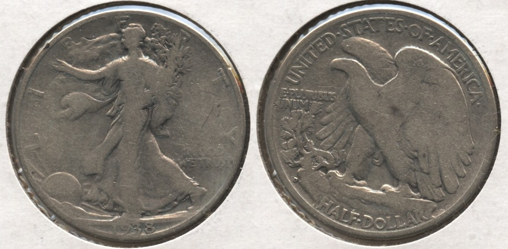 1938-D Walking Liberty Half Dollar VG-8 #l