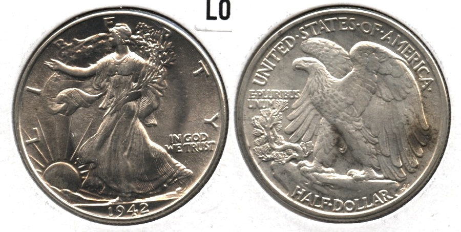 1942 Walking Liberty Half Dollar MS-60 c
