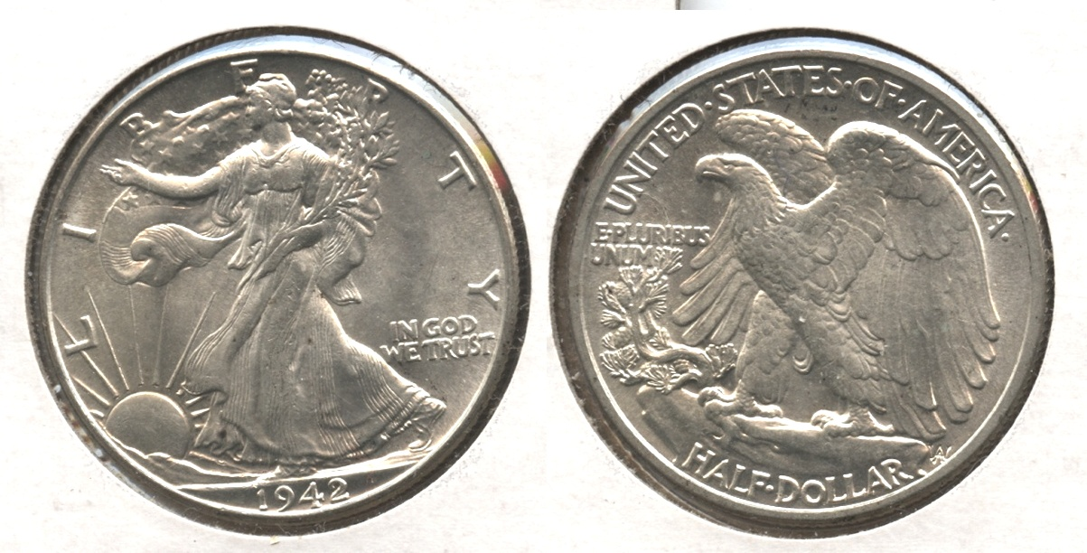 1942 Walking Liberty Half Dollar MS-63 #r