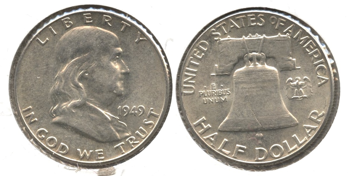 1949 Franklin Half Dollar AU-55 #aq