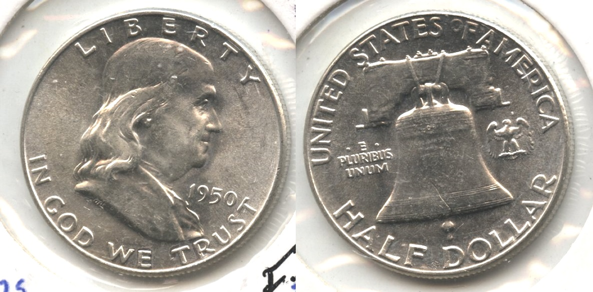 1950 Franklin Half Dollar MS-60 #f