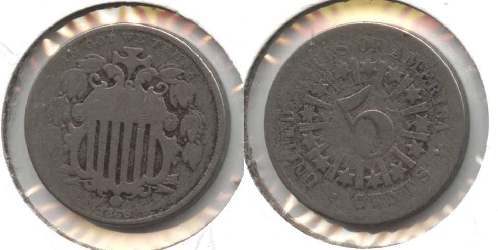 1866 Shield Nickel AG-3 #g