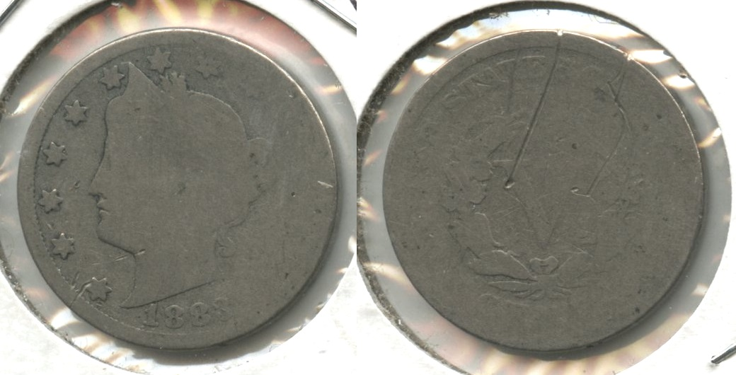 1883 With Cents Liberty Head Nickel AG-3 #ak Reverse Scratch