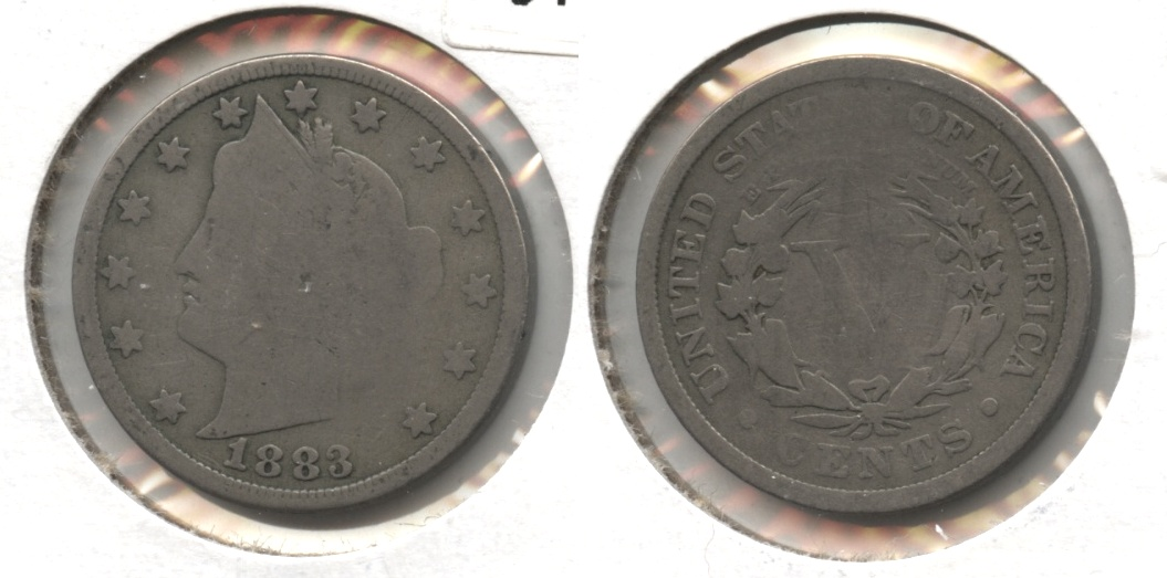 1883 With Cents Liberty Head Nickel AG-3 #j