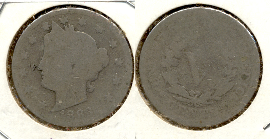 1883 With Cents Liberty Head Nickel Fair-2 l