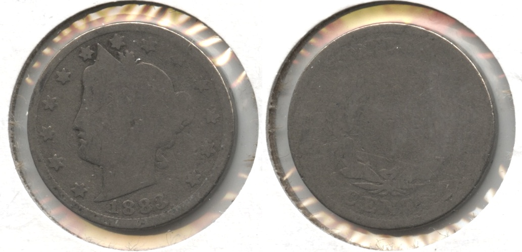 1883 With Cents Liberty Head Nickel Fair-2 #v