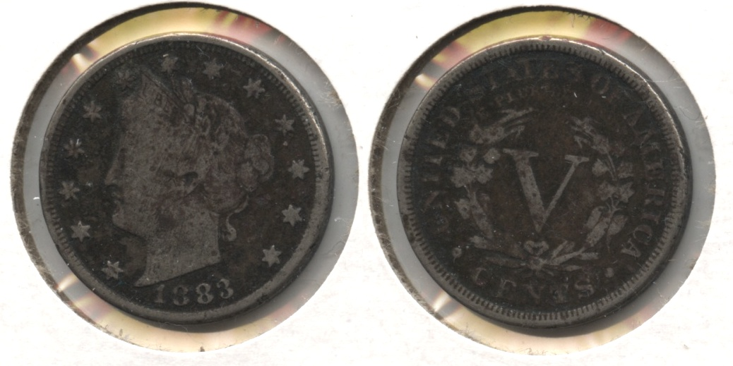 1883 With Cents Liberty Head Nickel VG-8 #g Dark