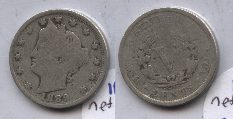 1889 Liberty Head Nickel Good-4 #b Light Porous