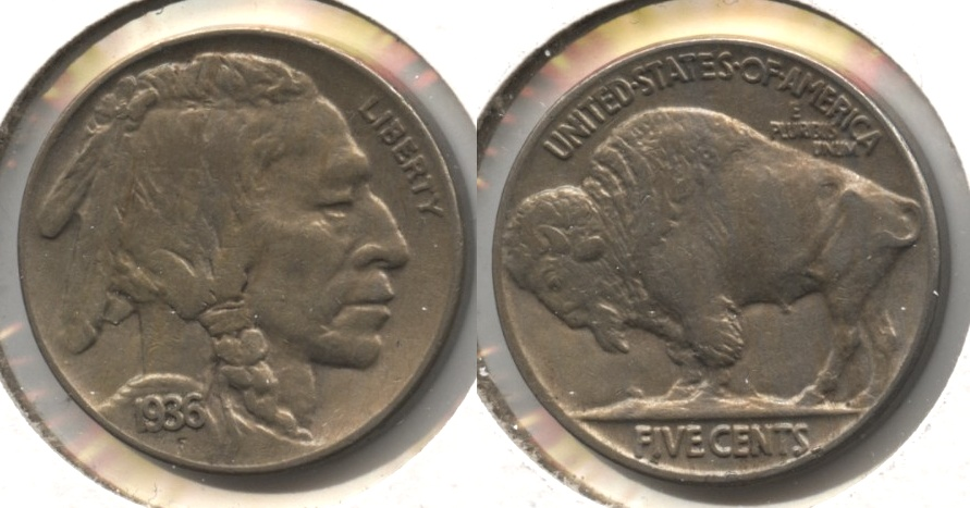 1936 Buffalo Nickel AU-50 #s