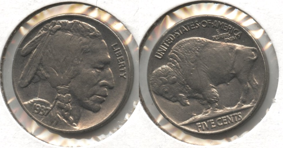 1937 Buffalo Nickel AU-55 #z