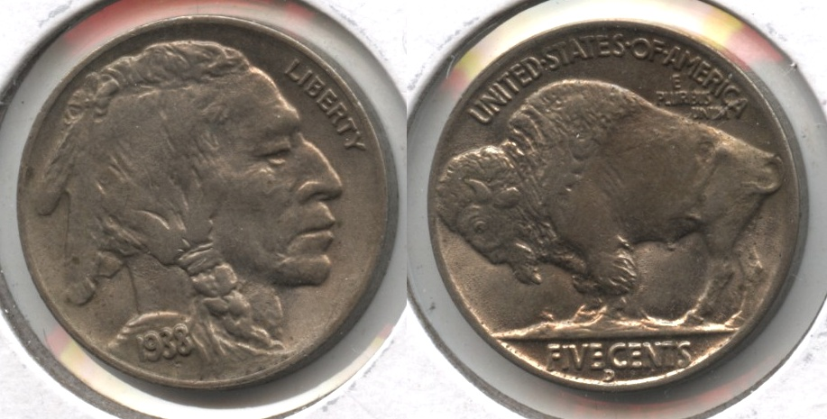 1938-D Buffalo Nickel MS-60 #a