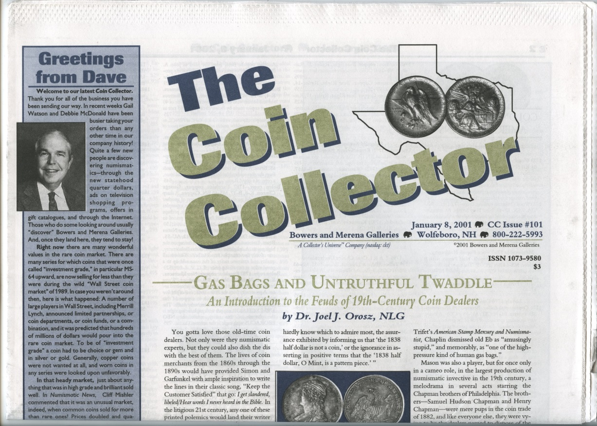 Bowers and Merena The Coin Collector #101