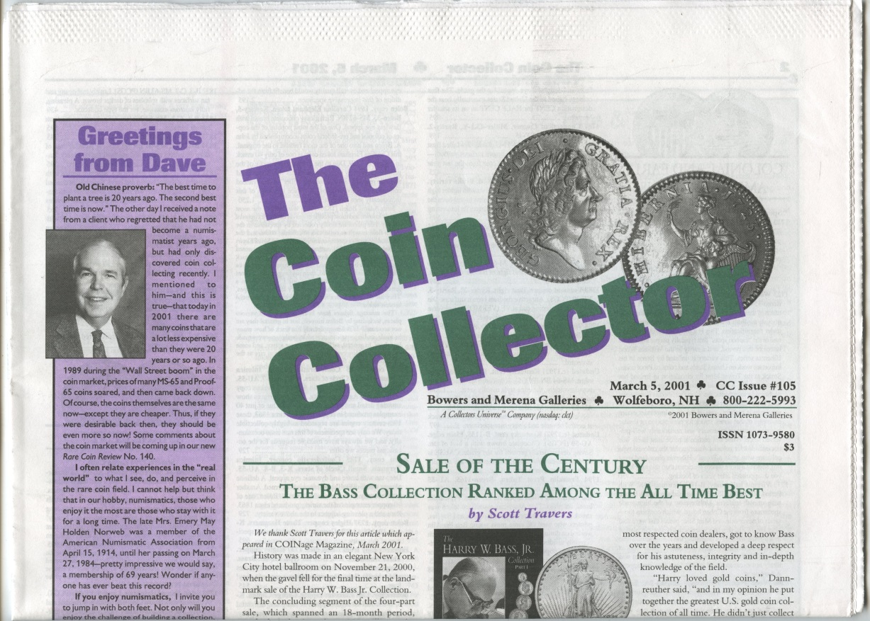Bowers and Merena The Coin Collector #105