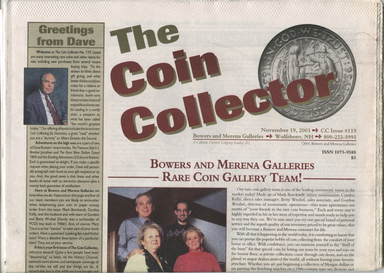 Bowers and Merena The Coin Collector #119