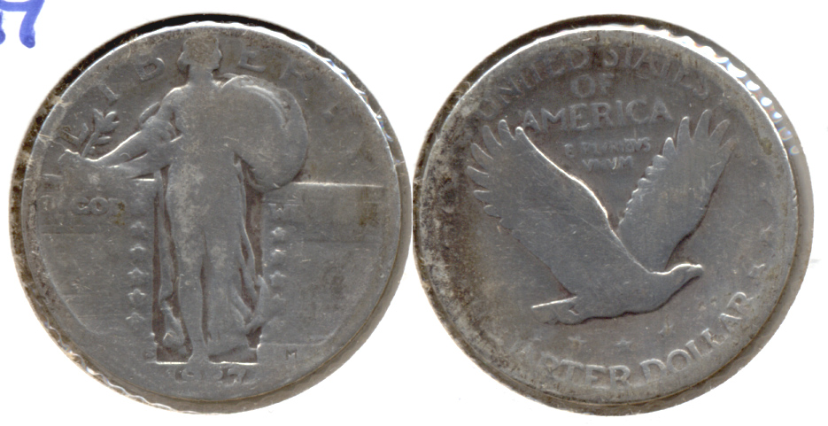 1927-S Standing Liberty Quarter AG-3