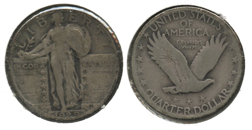 1929 Standing Liberty Quarter VG-8 #t Medium Tone