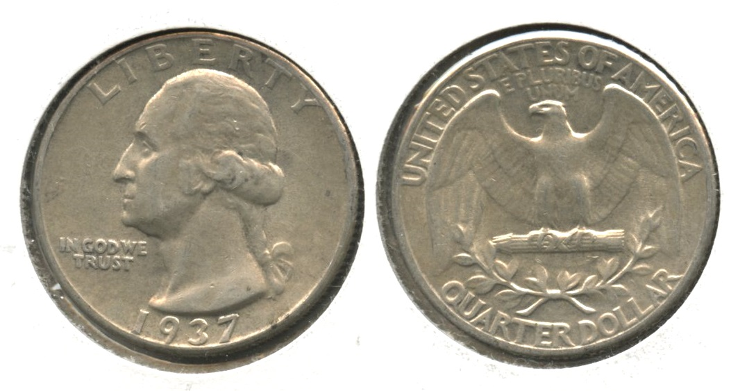 1937 Washington Quarter EF-40 #b