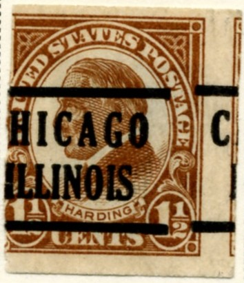 Scott 576 Harding 1 2 Cent Stamp Yellow Brown Series Of 1922 1925