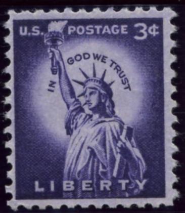 Scott 1035 3 Cent Stamp Statue Of Liberty