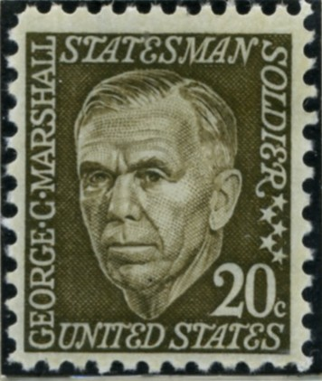 Scott 1289 20 Cent Stamp George C Marshall
