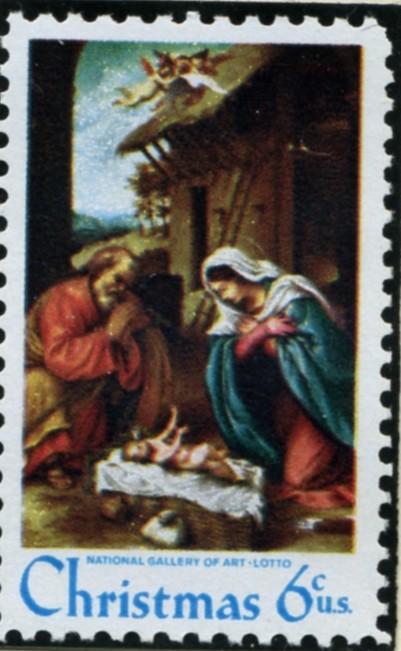 Scott 1414 6 Cent Stamp Christmas Manger Scene