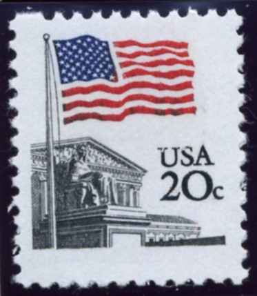 Scott 1894 20 Cent Definitive Stamp Flag Over Supreme Court
