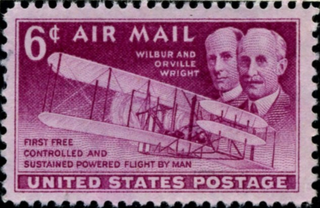 Scott C45 Wright Brothers 6 Cent Airmail Stamp