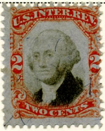 Scott R135 2 Cents Internal Revenue Stamp